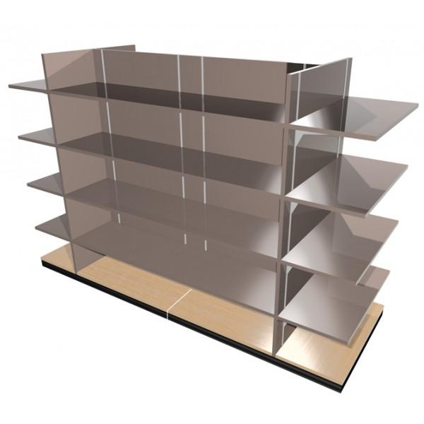 mobilier de pharmacie gondole xl extra large. Black Bedroom Furniture Sets. Home Design Ideas